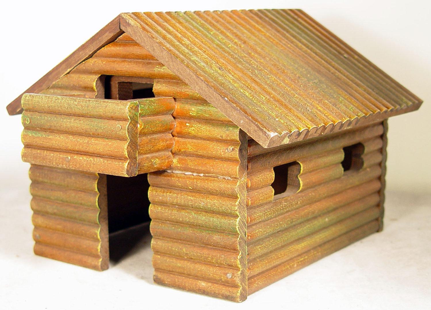 Elastolin Blockhaus mit Veranda
